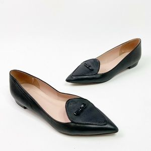 J.Crew Two-Tones Pointed Toe Loafers K0792